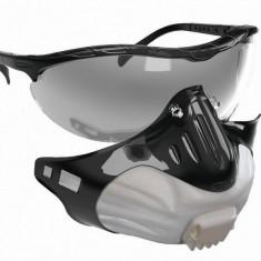 Masti protectie respiratorie (virusi) set 3 masti + ochelari atasati de suport