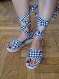Sandale noi, marimea 38, Bleumarin