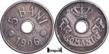 1906, 5 Bani - Carol I - Romania