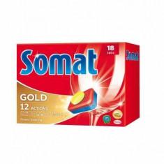 Tablete detergent pentru masina de spalat vase, Somat Gold, 18 bucati