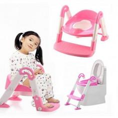 Olita Multifunctionala Copii cu Reductor si Scarita Roz