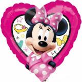 Balon folie inima 43cm Minnie