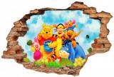 "Sticker ""Wall Crack"" Winnie the Pooh 2 - 120 x 80 cm"