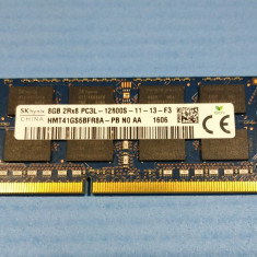 DDR3 RAM laptop memorie HYNIX 8GB 2RX8 PC3L 12800 frecventa 1600 Mhz