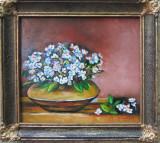 Tablou / Pictura vas cu flori semnat Cimpoesu