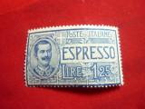 Timbru Espresso Italia 1926 1,25Lire albastru ,sarniera, Nestampilat