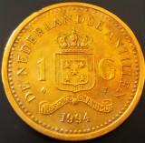 Cumpara ieftin Moneda EXOTICA 1 GULDEN - ANTILELE OLANDEZE (Caraibe), anul 1994 * cod 1067, America Centrala si de Sud