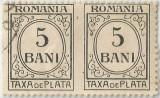 România, LP IV.12/1920, Taxă de plată, h. albă, fără filigran, eroare, oblit.