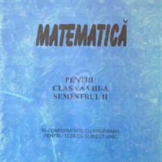 Matematica. Pentru clasa a VIII-a semestrul II