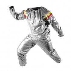 Costum pentru slabit tip sauna, marime universala, argintiu