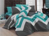 Nazenin Home, Lenjerie de pat cu imprimeu grafic, Multicolor, 200x220 2P 50x70 Standard