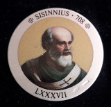 Italia Medalie Argint 925 marcat - Papa Sisinnius, Europa