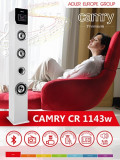Sistem Audio Stereo Boxa Bluetooth Turn cu Telecomanda, USB, SD, AUX, LED, Putere 60W, Alb