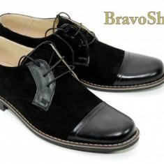 Pantofi negri barbati casual-eleganti din piele naturala - Made in Romania