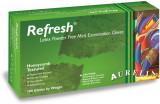 Set 100 manusi latex fara pudra verzi mentolate Aurelia Refresh, marimea M