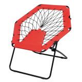 Scaun portabil pentru plaja sau picnic, Everestus, 20FEB0148, Otel, Poliester, Negru, Rosu, saculet inclus