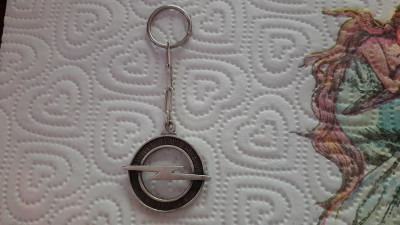 Breloc Opel argint foto