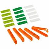 Set 20 cleme pentru pungi, Kitchen Craft, KCCLIPSASST, plastic, Multicolor