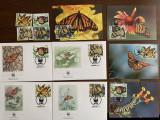 mexic - fluturi - serie 4 timbre MNH, 4 FDC, 4 maxime, fauna wwf