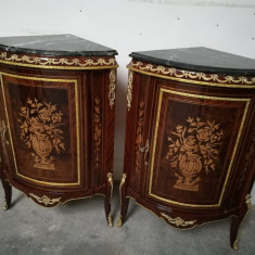 Elegant set de 2 colțare in stilul francez Empire