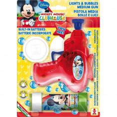 Pistol baloane sapun cu luminite Mickey Mouse, Dulcop DC085500, 1buc