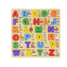 Puzzle lemn incastru Alfabet ABC 26 piese