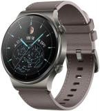 Smartwatch Huawei Watch GT 2 Pro, Display AMOLED 1.39inch, 32MB RAM, 4GB Flash, Bluetooth, GPS, Carcasa Titan, Bratara Piele, Rezistent la apa, Androi