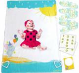Set cadou cu accesorii foto incluse Milestone Blanket, Elefantul cu baloane