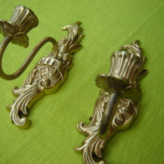 Superba pereche de sfesnice din bronz
