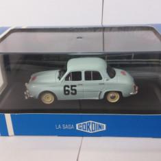 macheta renault dauphine gordini rallye de monte carlo 1958 - atlas,1/43.