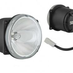 Proiector auto Wesem 12V bec H3, 81x92mm sticla alba carcasa negra , cu lumina de drum , 1 buc.