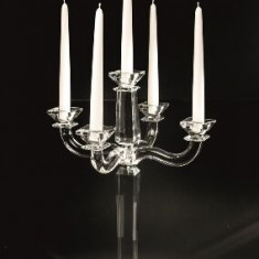 CANDELABRO 5 FIAMME GIGANTE Sfesnic din cristal by Chinelli, made in Italy