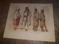 Preziosi- Bucurestii in 1869 , Cromolito ,Format- 29,5 * 24 cm foto