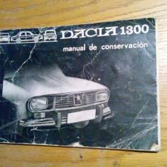 DACIA 1300, R 1170 -  Manual de Conservacion -  71 p.; lb. spaniola