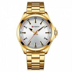 Ceas de mana barbati business, elegant, Curren Gold - M8320AGOLD