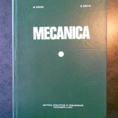 MARIN RADOI, EUGEN DECIU - MECANICA (1977)