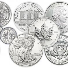 Monede argint noi si perfecte pentru botez , mot de la 69 lei