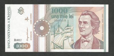 ROMANIA  1000  1.000  LEI  1991  [03]  a  UNC  , necirculata , cu punct foto