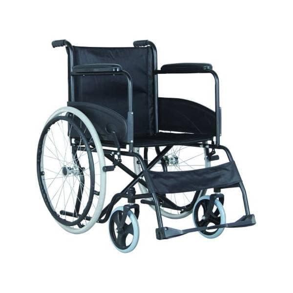 Scaun cu rotile, fotoliu rulant pliabil din PVC