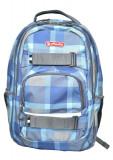 Rucsac Herlitz Skater Cu Doua Compartimente, Compartiment Pentru Laptop Si Tableta, 43 x 27 x 18 Cm, Motiv Blue Checkers
