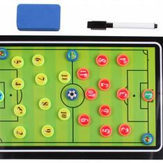 Fotbal 64 plansa magnetica antrenor, cu clips, Merco