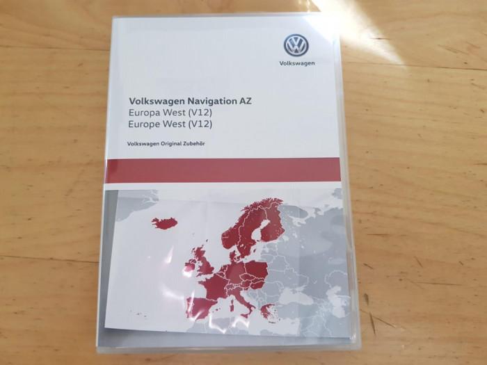 Card Original navigatie VW RNS 315 sau Skoda Amundsen+ Europa West V12 2020