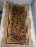 Impresionant basorelief,tablou sculptat integral manual de dimensiuni mari
