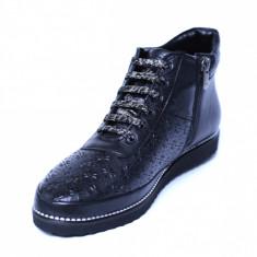 Pantofi dama din piele naturala, Row, Relin, Negru, 40 EU