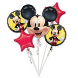 Buchet baloane folie Mickey Mouse, A 40701, set 5 buc
