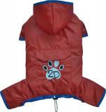 Pelerina ploaie cu gluga - rosu - Doggydolly - BD452