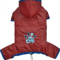 Pelerina ploaie cu gluga - rosu - Doggydolly - BD452 (Marime: S)