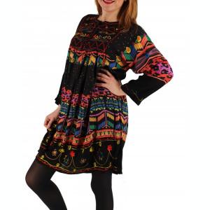 Rochie Bluza brodata cu imprimeu floral Oana 2