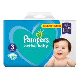 Scutece Pampers Active Baby Nr 3, Giant Pack - 90 buc.