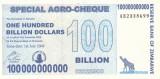 Bancnota Zimbabwe (Agro Cheque) 100.000.000.000 Dolari 2008 - P64 UNC